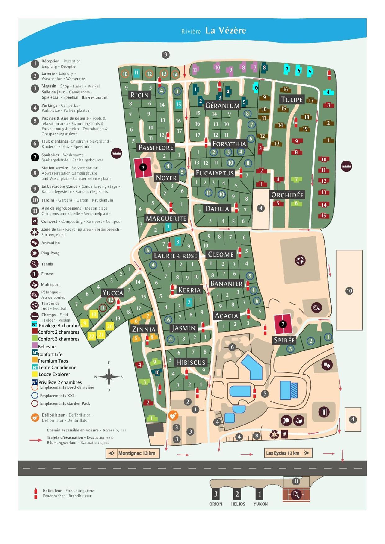 Campingplatz Plan